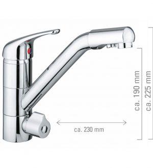 3-Wege Wasserhahn Siena