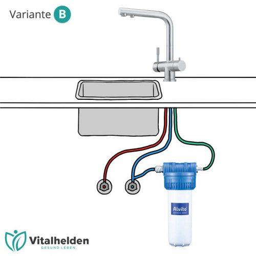 Alvito Untertisch Wasserfilter Variante B