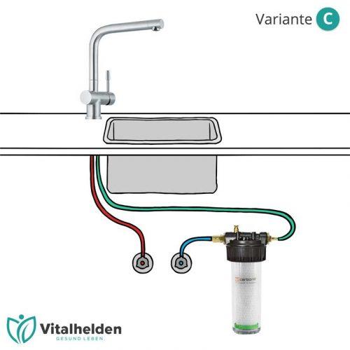 Carbonit Untertisch Wasserfilter Variante C
