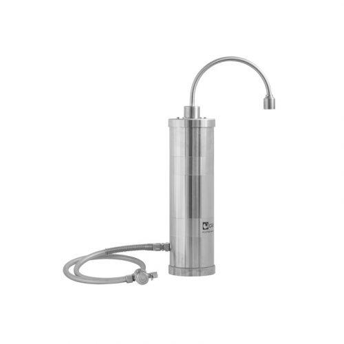 Edelstahl Auftisch Wasserfilter Carbonit Inox F