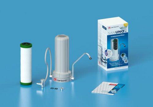 Carbonit_SANUNO_Classic_Auftischfilter_GRAU_mit_NFP-Premium_Filtereinsatz_Overview