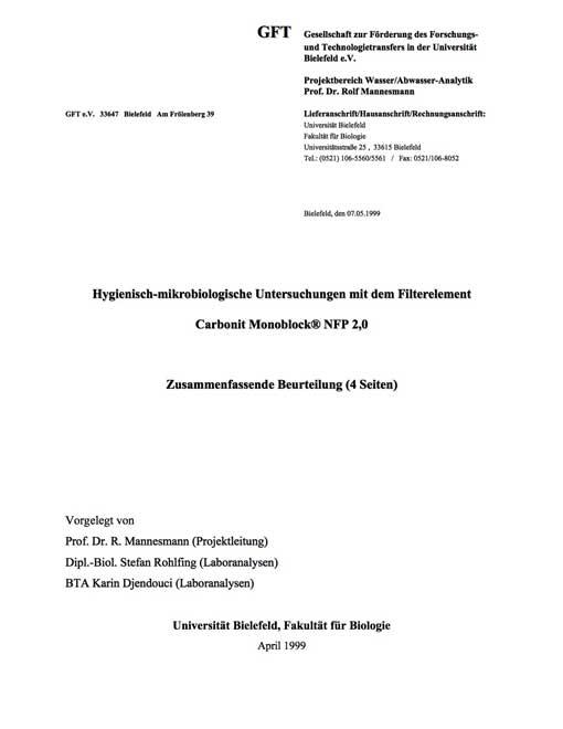 Carbonit SANUNO Filtereinbau Prospekt