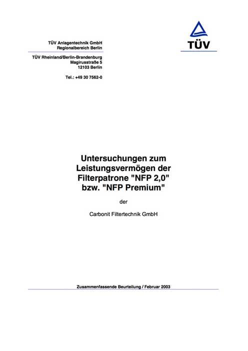 Carbonit VARIO-HP Bedienanleitung