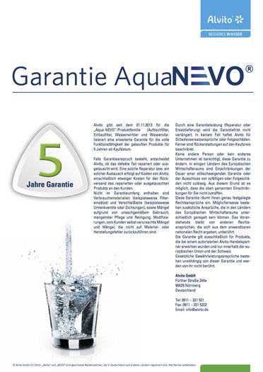 AquaNevo Garantiebedingungen