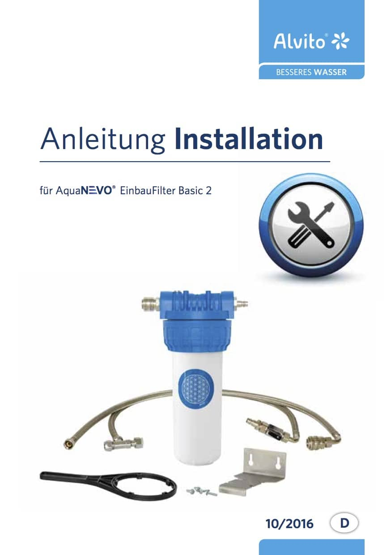 AquaNevo Installationsanleitung Einbaufilter Basic 2