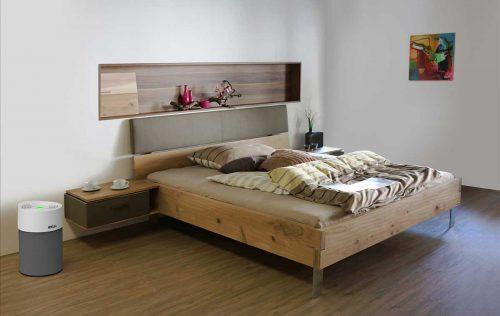 Ideal Luftreiniger AP40 Pro im Schlafzimmer anthrazit