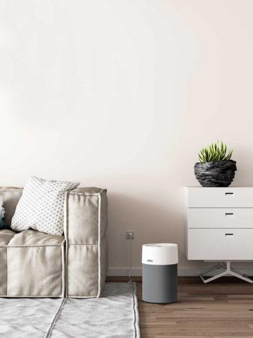 Ideal Luftreiniger AP40 Pro Wohnzimmer mit Textilbezug anthrazit