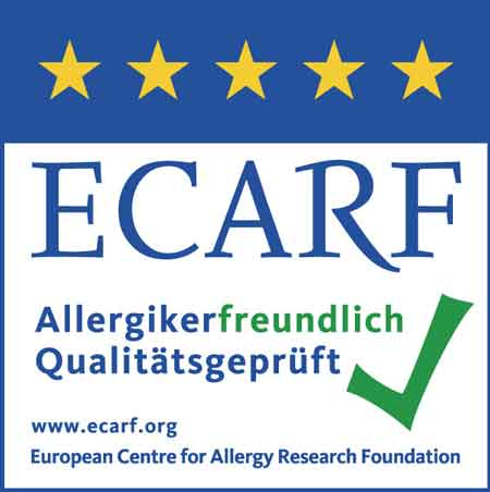 Allergikerfreundlich durch ECARF-Siegel