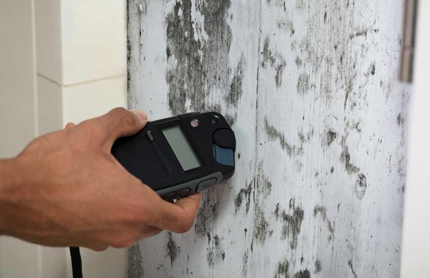 Messung nasse Wand