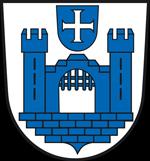 Leitungswasser und Stadtwappen Ravensburg