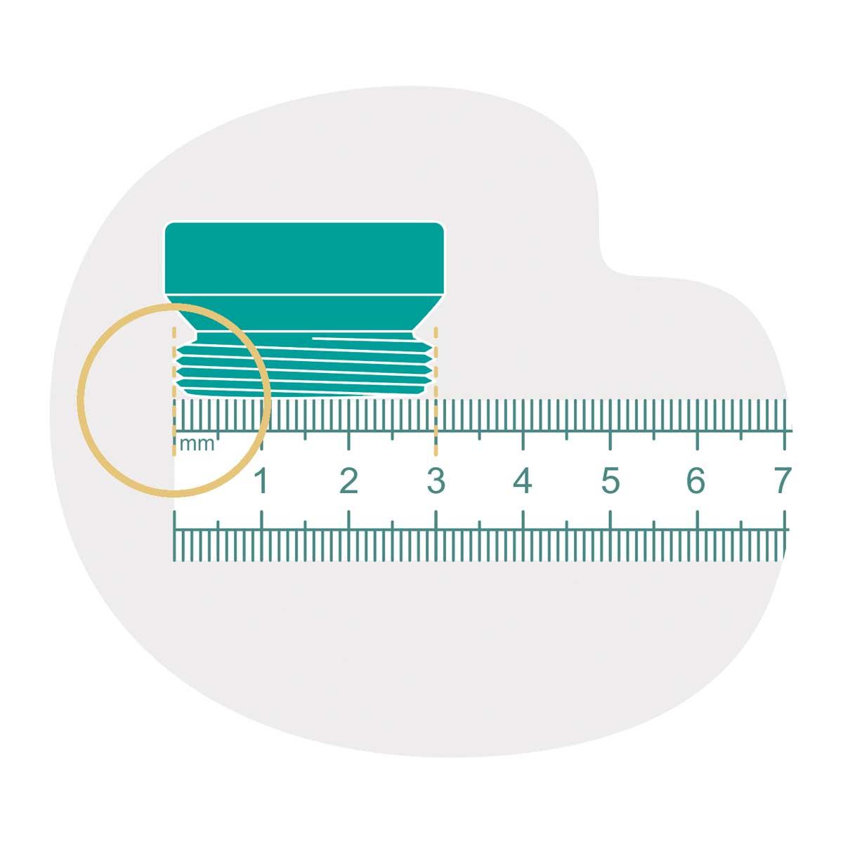 Strahlregler-Aussengewinde-per-Lineal-ermitteln
