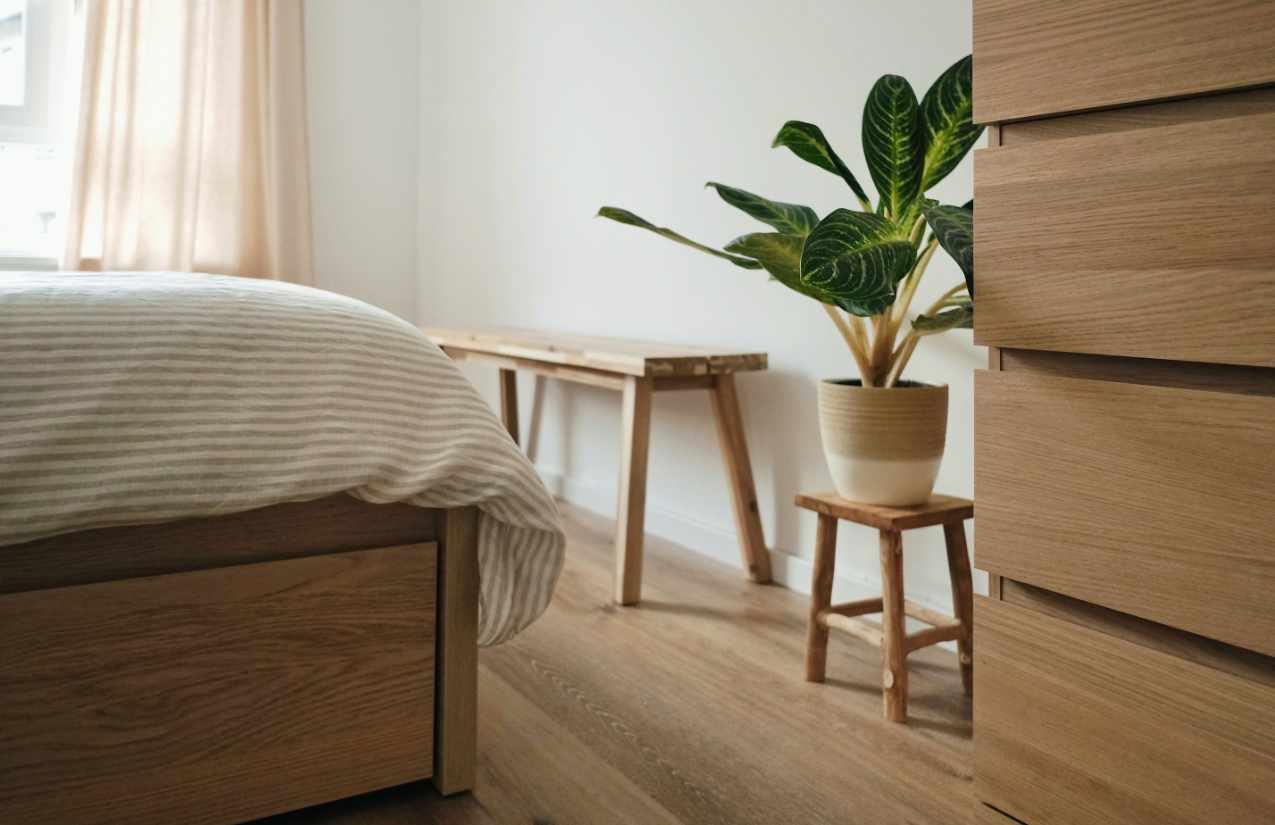 Holzmöbel verhindern schlechte Luft im Schlafzimmer