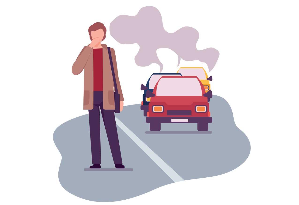 Smog durch Verkehr