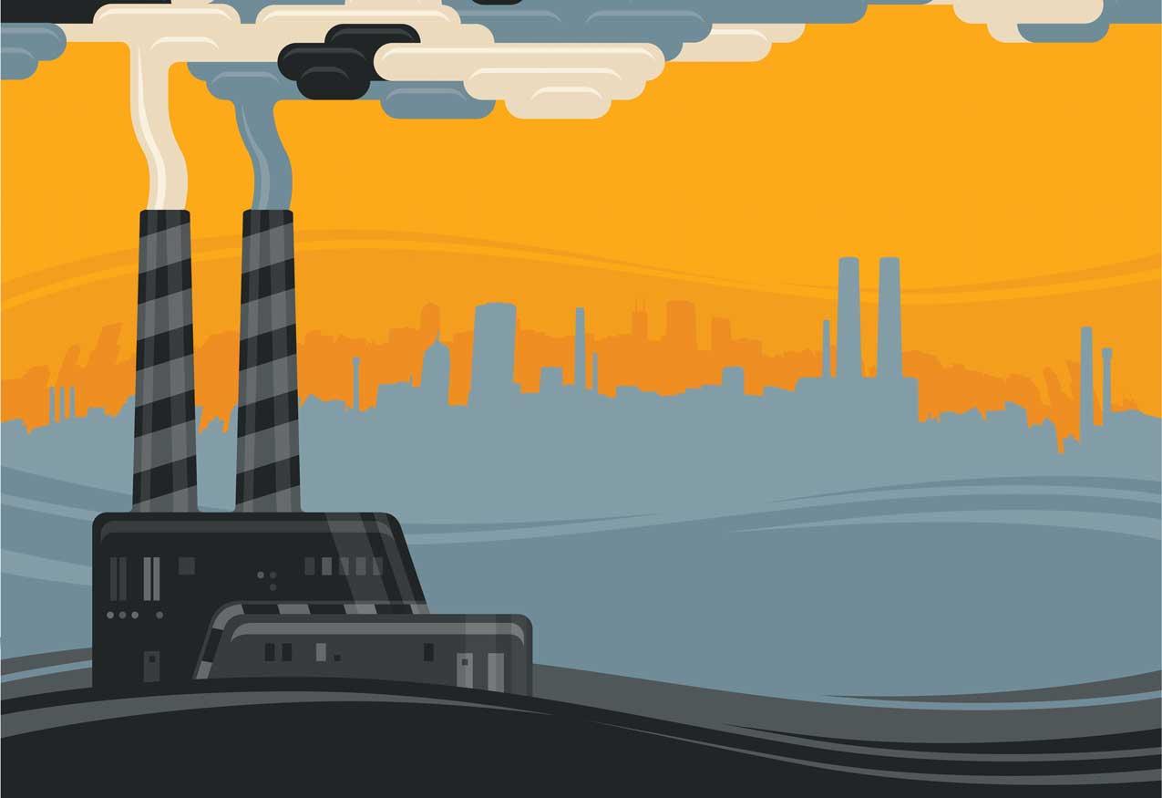 industrieller Smog